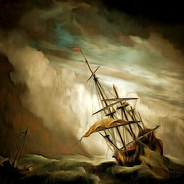 A Sailing Ship in a Raging Storm 1680 by ZipaC