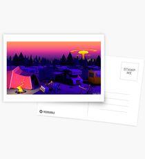 Low Poly Happy Camper Postkarten