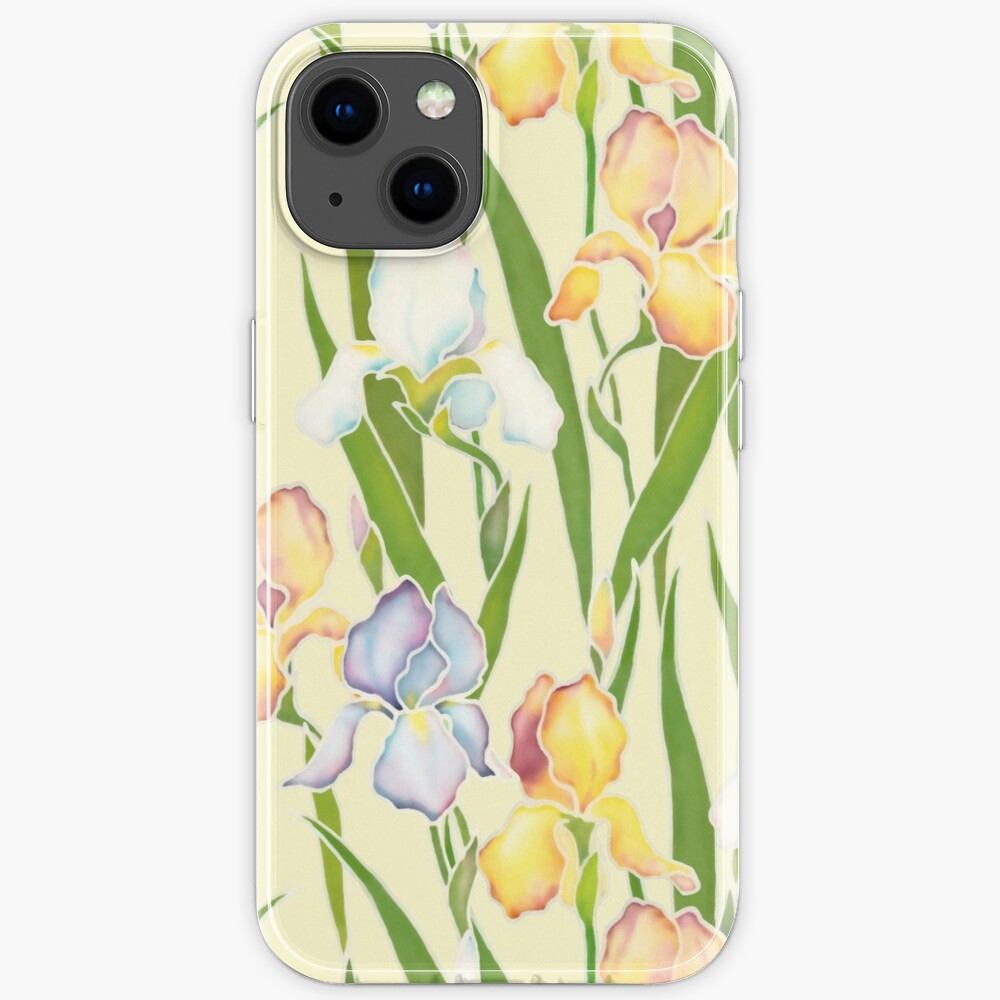 Creamy Irises iPhone Case