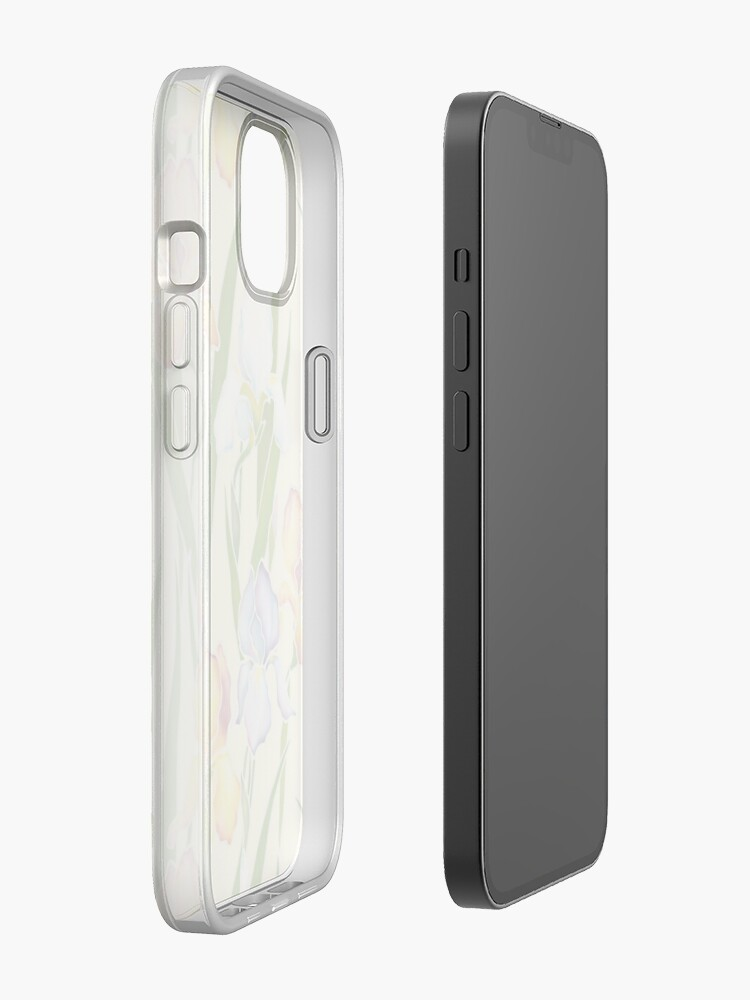 Alternate view of Creamy Irises iPhone Case