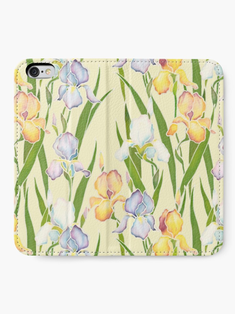 Alternate view of Creamy Irises iPhone Wallet