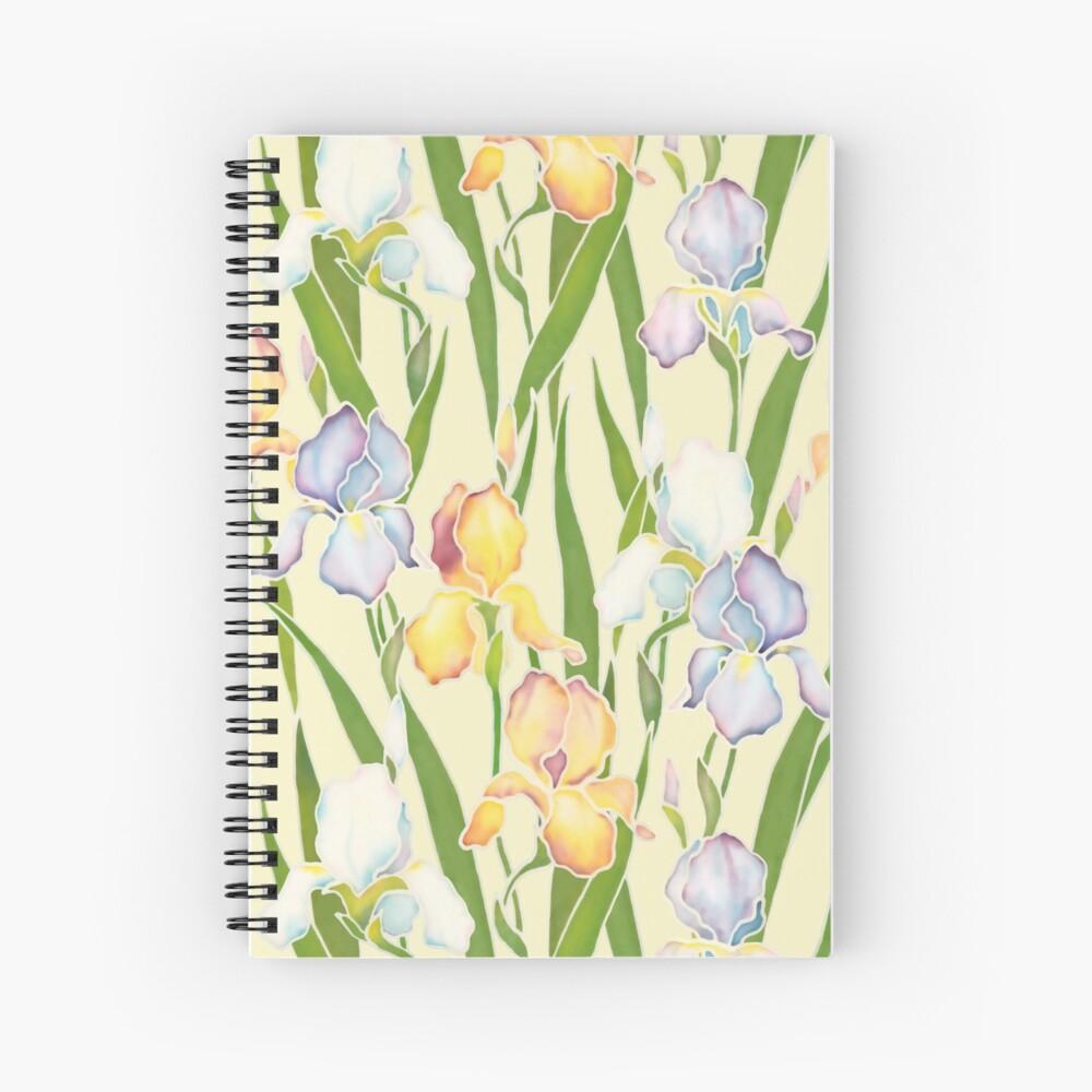 Creamy Irises Spiral Notebook