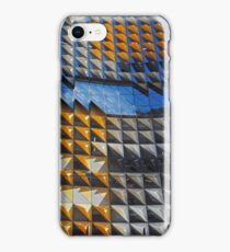 Melbourne - Architecture Blue and yellow iPhone Case/Skin