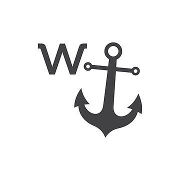 w anchor design by MightyOwlDesign