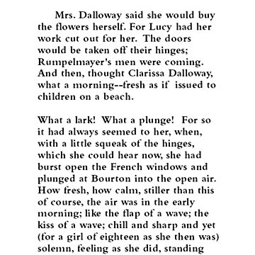 Mrs. Dalloway Virginia Woolf Page One by buythebook86
