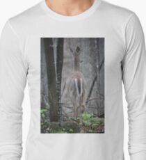 Deer Looks in Ravine Long Sleeve T-Shirt