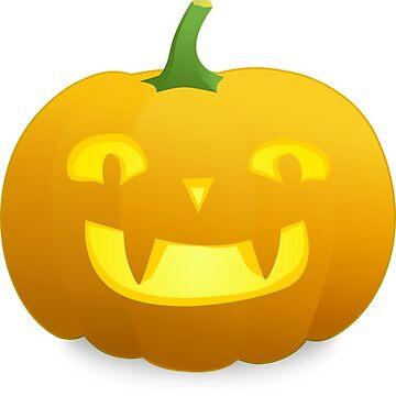 Halloween Smiling Pumpkin by MartinV96