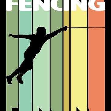 Fencing Retro Design - Fencing by kudostees