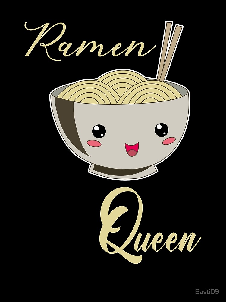 Ramen Queen Japanische Nudeln Vintage Retro Style von Basti09