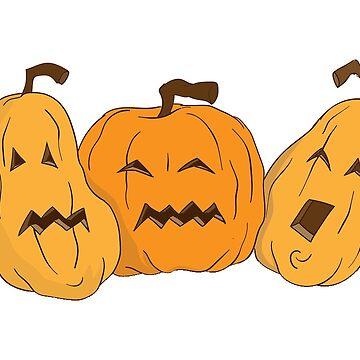Halloween Three Pumpkins by MartinV96