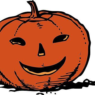 Halloween Orange Pumpkin by MartinV96