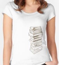 Stack of Knowledge Women's Fitted Scoop T-Shirt