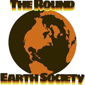 Vintage Round Earth Society by underscorepound