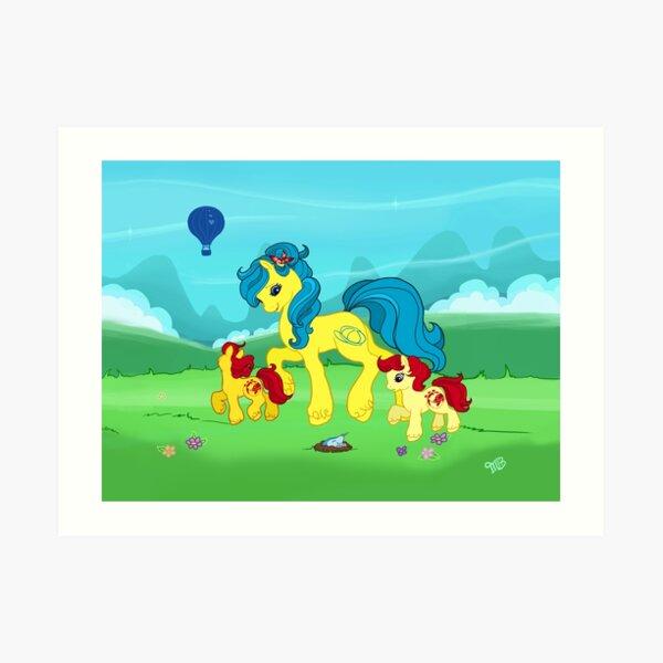 My Little Pony G2 Mountains Art Print