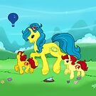 My Little Pony G2 Mountains by Maera