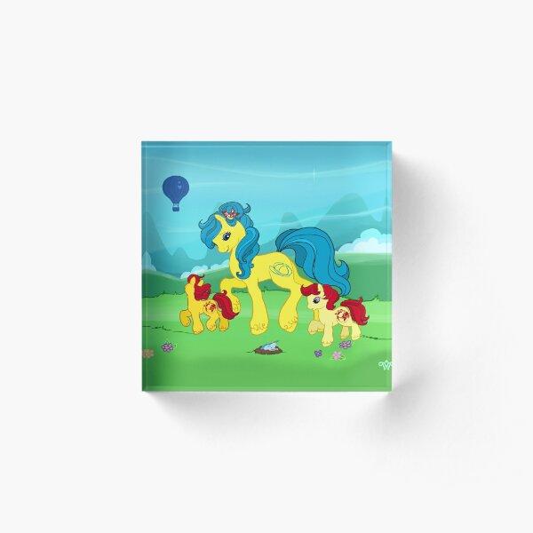 My Little Pony G2 Mountains Acrylic Block