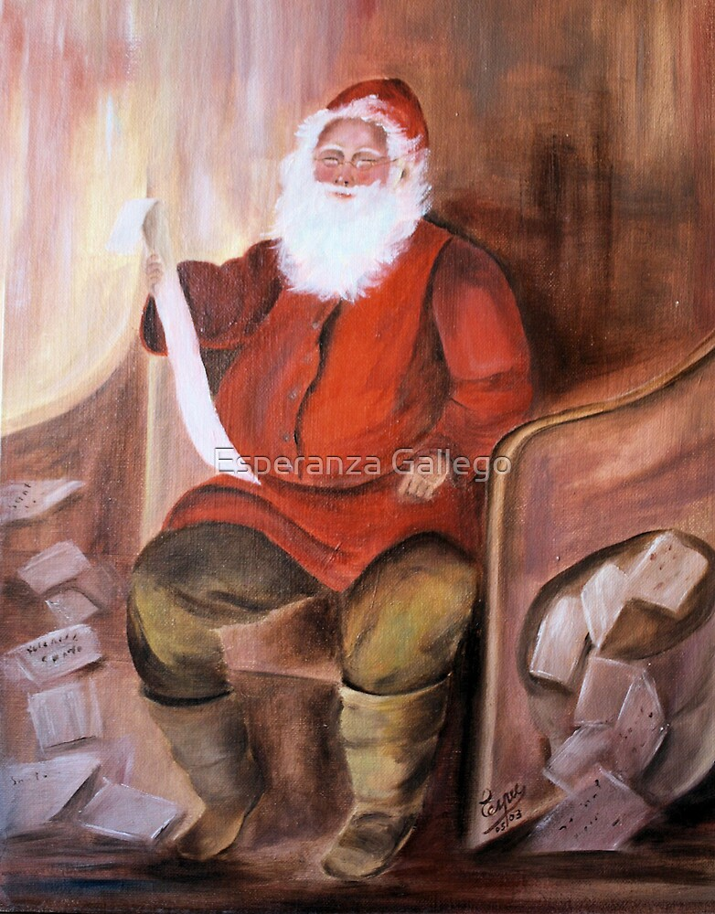 Checking the list- Oil Painting by Esperanza Gallego