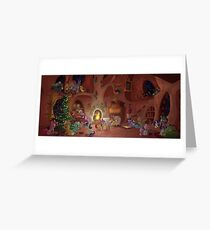 Christmas Scene Greeting Card