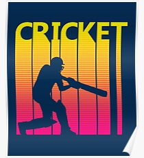 Retro 1980s Cricket Poster