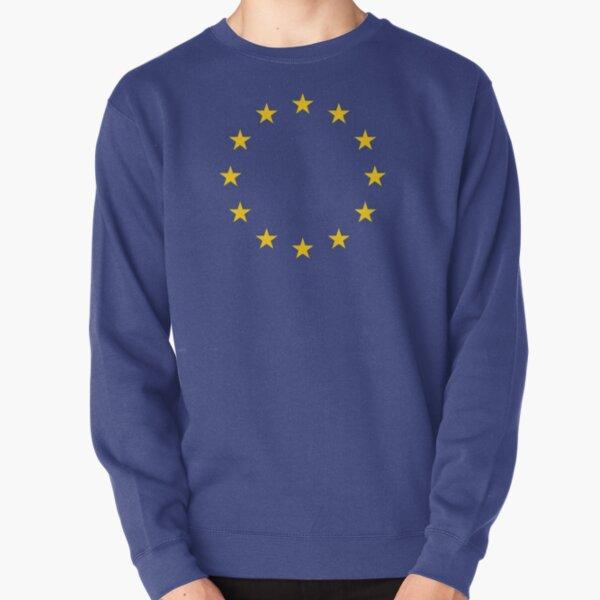EU. European, Remainers, STARS, Flag, Euro, Flag of Europe, European Union, Flag, Brussels. Pullover Sweatshirt