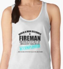 Gift for Firefighter Christmas Fire Accomplished Shirt Women's Tank Top