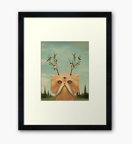 Cat Deity Framed Print