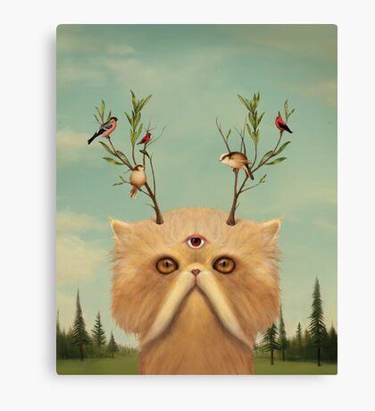 Cat Deity Canvas Print