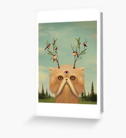 Cat Deity Greeting Card