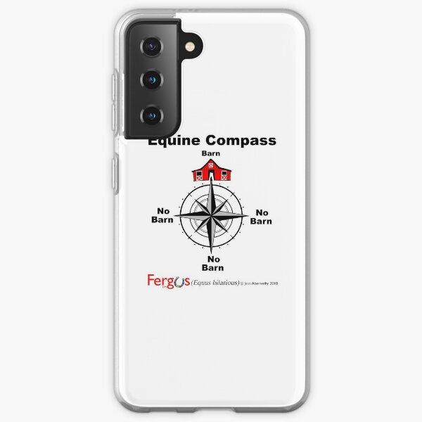 Fergus the Horse: Equine Compass (black) Samsung Galaxy Soft Case