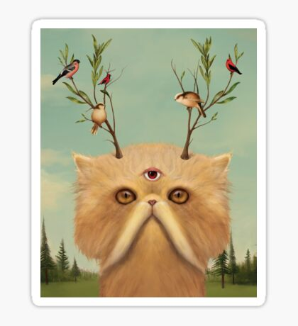 Cat Deity Sticker
