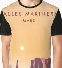 Valles Marineris Mars Reiseplakat. Grafik T-Shirt