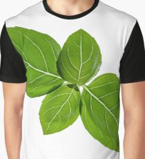 Basil leaves isolated on white background Graphic T-Shirt
