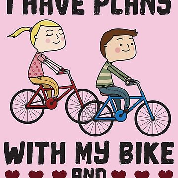 Sorry I Can't I Have Plans Biking Couple Husband - Funny Cycling  Gift by yeoys