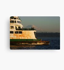 The Sound and the Ferry Canvas Print