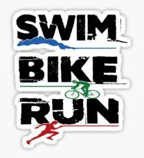 Triathlon- Swim, Bike, Run Triathlete Sticker