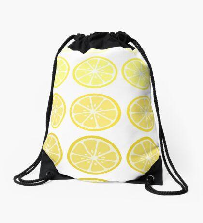 Gradient Lemons Drawstring Bag