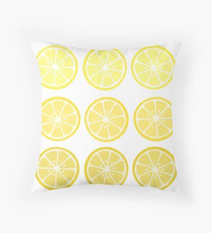 Gradient Lemons Throw Pillow