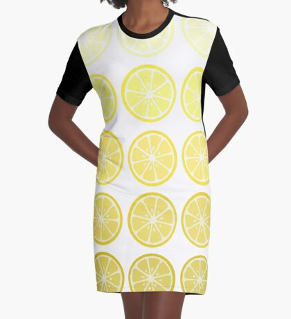 Gradient Lemons Graphic T-Shirt Dress