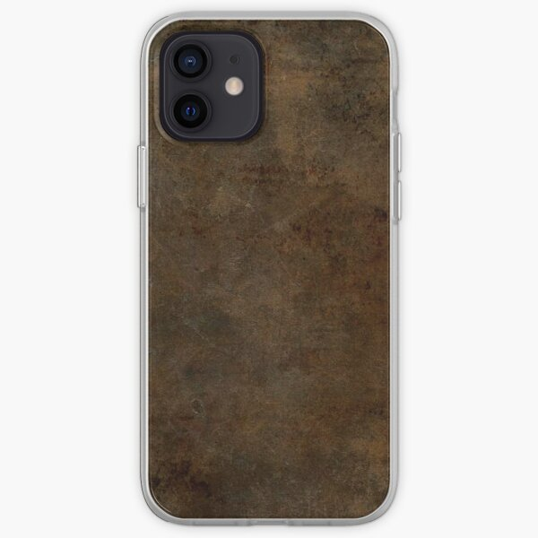 Brown Worn Out Leather iPhone Soft Case