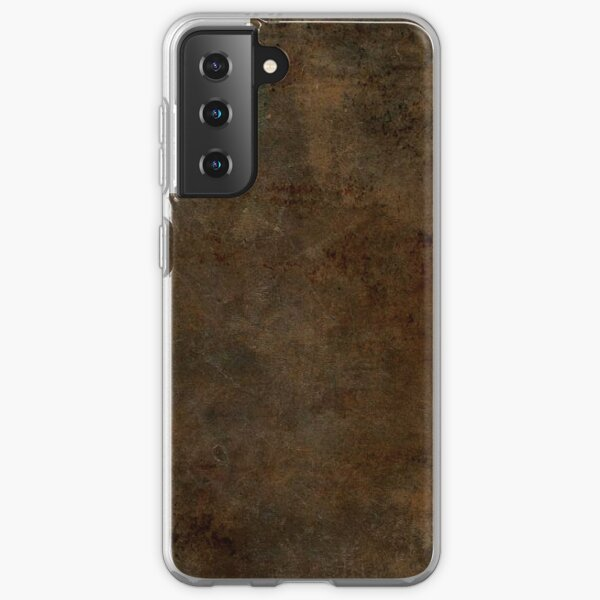 Brown Worn Out Leather Samsung Galaxy Soft Case
