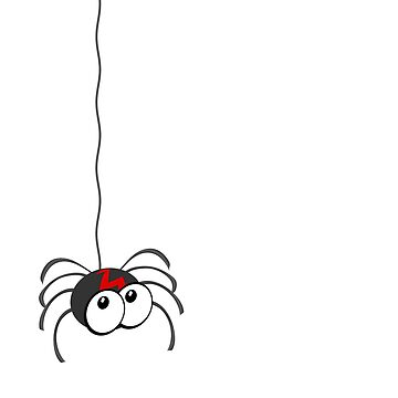 Spider hanging from a thread by funkyworm