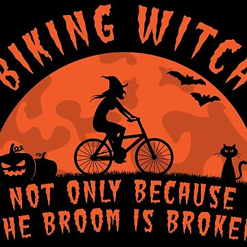 Biking Witch Halloween Biking Couple  - Funny Cycling  Gift by yeoys