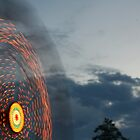 ferris wheel in motion by Nicholas Caruolo