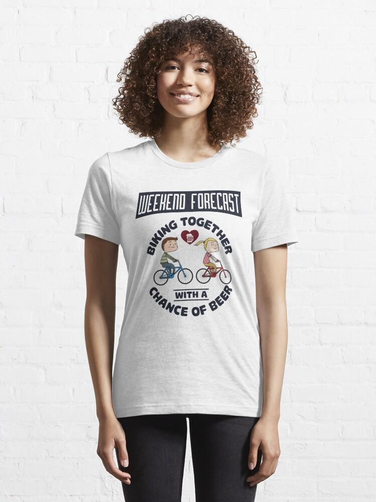 Alternative Ansicht von Weekend Forecast Biking Couple - Funny Cycling  Gift Essential T-Shirt