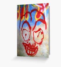 Spooky Grafitti Greeting Card