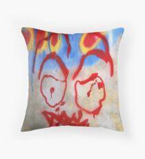 Spooky Grafitti Throw Pillow
