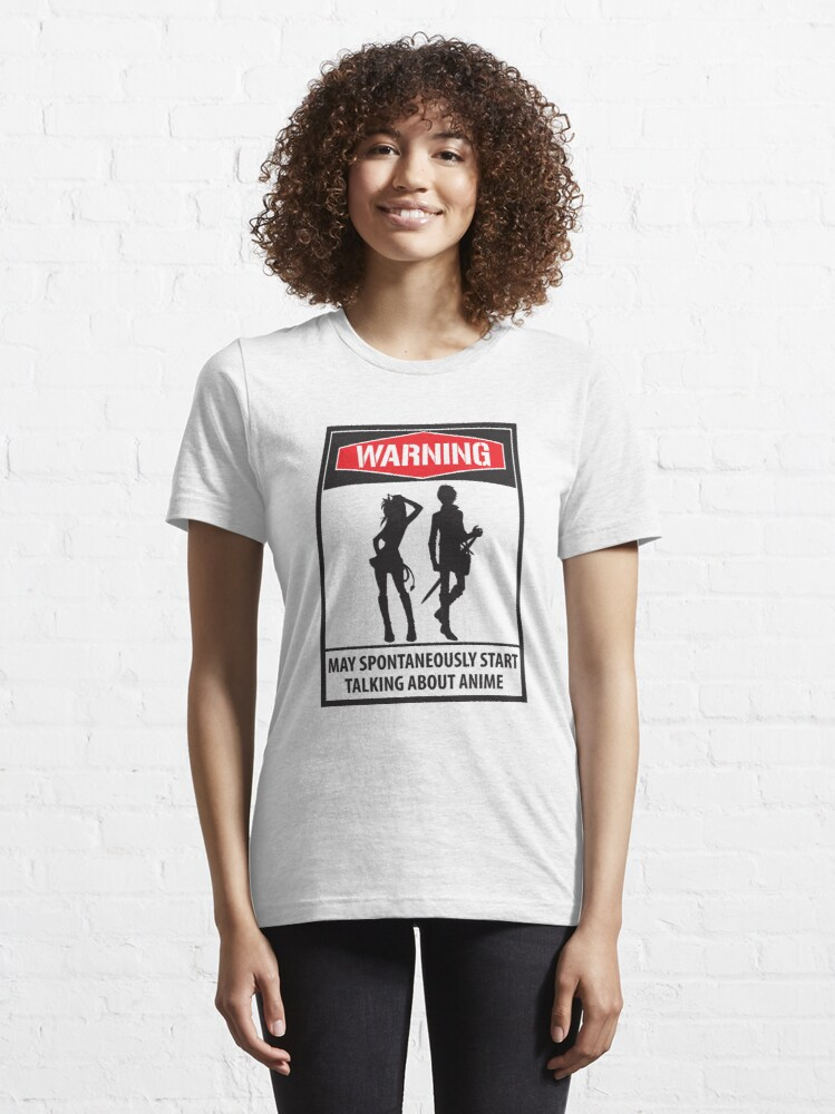 Alternative Ansicht von Warning May Spontaneously Start Talking About Anime - Funny Animes Gift Essential T-Shirt