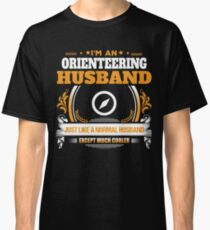 Orienteering Husband Christmas Gift or Birthday Present Classic T-Shirt