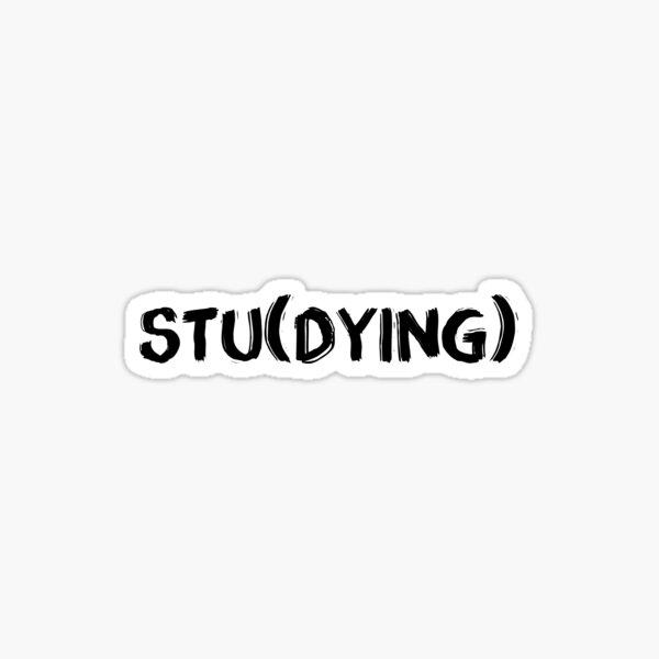 Estudiando) Pegatina