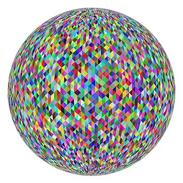 Coloured Geodesic Sphere. by TOMSREDBUBBLE